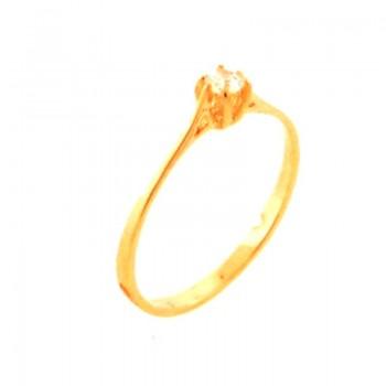 Anel solitario pequeno zirconia cristal 3mm. 141102
