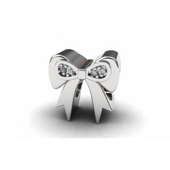 Berloque laco em prata com zirconia cristal. 361127