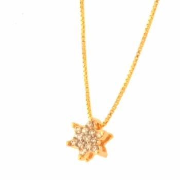 Colar estrela pequena zirconia cristal. 161135