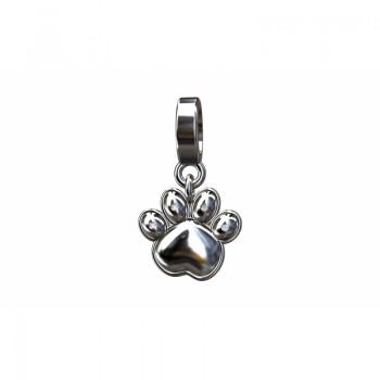 Berloque pata de cachorro em prata. 361137