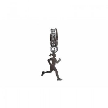 Berloque corredora em prata. 361154