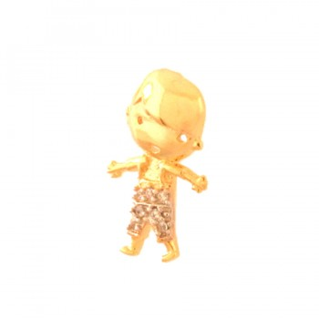 Pingente menino roupa zirconia cristal. 162006